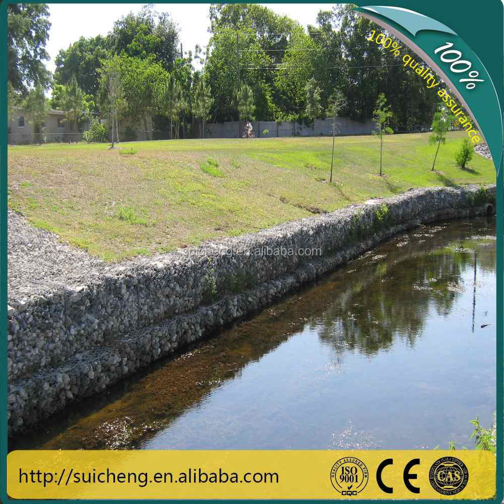 Galvanized Gabion wire box for Water Conservancy Project