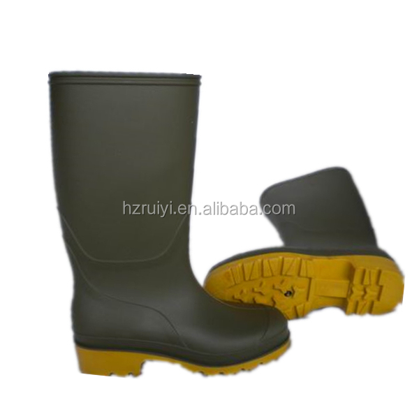 women plain rain boots durable working shoes custom made PVC overshoes