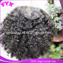 Afro kinky curl remy lace front closure with baby hair natural black cheap human hair extension on sale