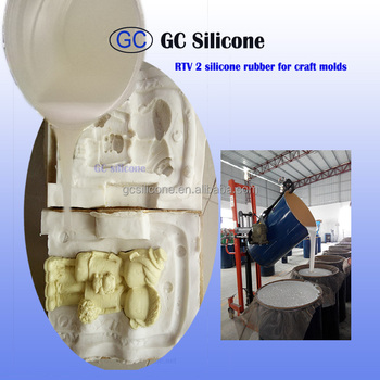 condensation silicone rubber rtv 2 mold making for high density PU crafts