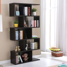 Home used modern style free wooden combination bookcase and book cabinet