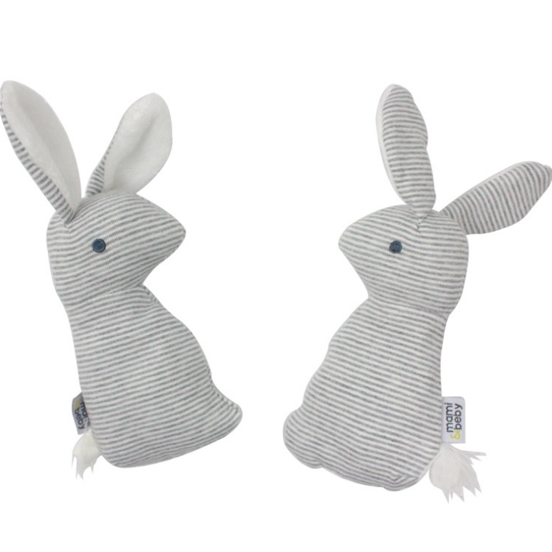 Stuffed <strong>rabbit</strong> plush baby comforter toy soft baby rattle toy