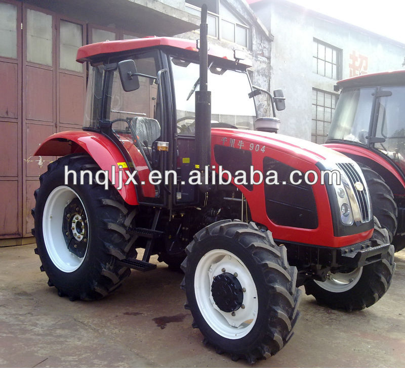 New Farm tractor 90HP 4x4,16F+8R shift gears, AC cabin, radio, front end loader ,backhoe, attachment available.