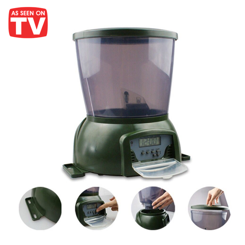 Last for 99 days 1.6 KG Food Container Wholesale Classic Green Automatic Fish Feeder