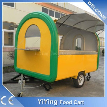 Combi truck riyadh taco food trailer with stainless steel counter