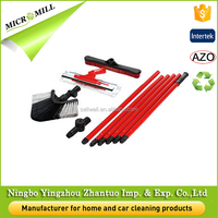 Long handle window cleaning kit with squeegee