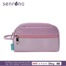 travel make up bag,PVC pink leather cosmetic bag, pink lady PVC bag