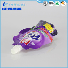 Customized special shape bag liquid packaging plastic bag food spout pouches