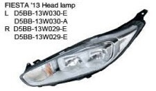 For ford fiesta 2013 headlight/head lamp hid refit white black
