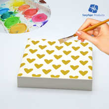 Novelty Watercolor Canvas Gold Stamp Heart Water Color DIY Painting