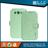 two mobile phones leather case for galaxy s3