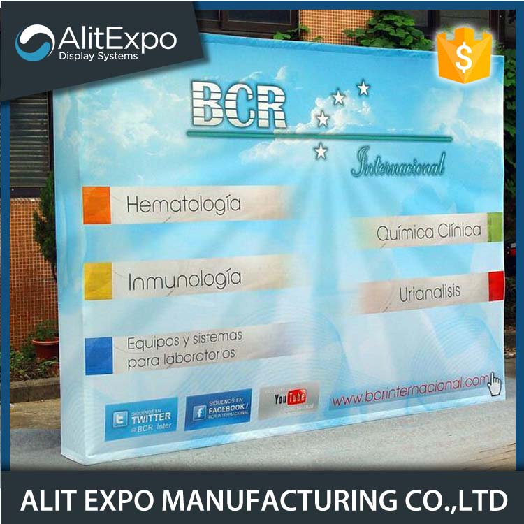 easy to install aluminum tension fabric pop up stand with best service