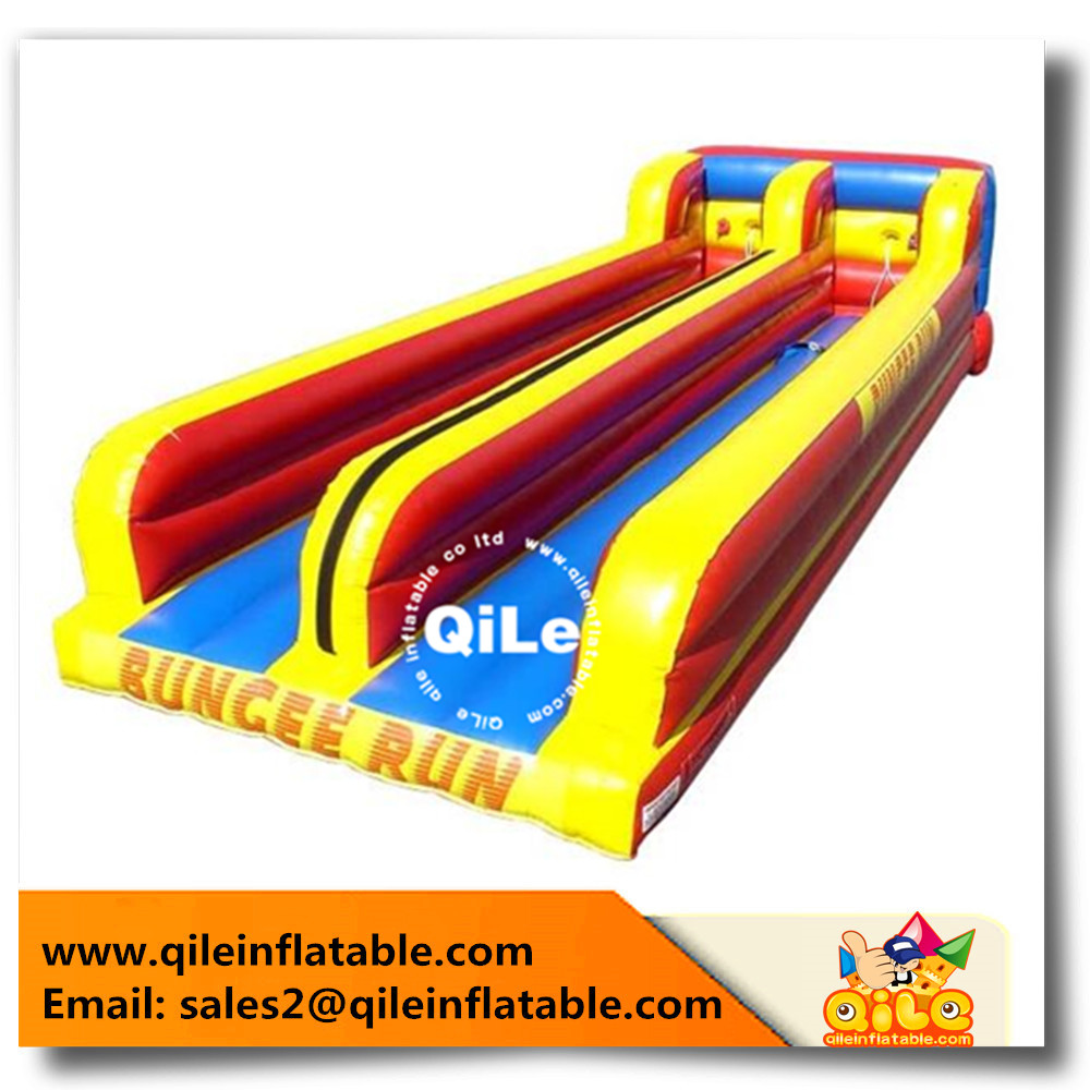Innovative Inflatable bungee run Equipment crazy fun Popular sport games for kids and adults playing Outdoor Playground