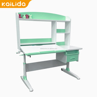 Hot Sale powder coated modern design wooden computer desk table cheap For KC Spare Parts
