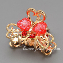 Beautiful Butterfly Model Metal Claw Clips Decorated With Resin And Rhinestone Hair Accessories Manufacturers China