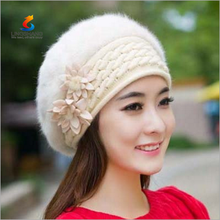 The influx of women winter Korean fashion children beret hat lady autumn thick warm wool hat rabbit fur hat
