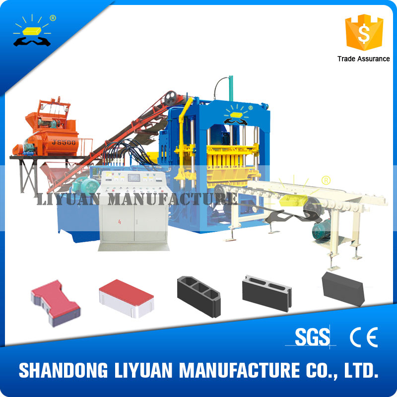 QT4-15 hydraulic transmission full automatic brick block machine