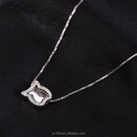 2016 arabic fashion jewelry type 925 sterling silver american diamond necklaces for women