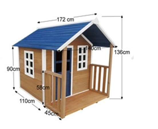 Kids Childrens Backyard Timber Wooden Outdoor Cubby Play House JS033