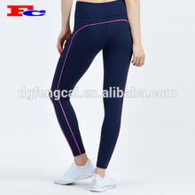 Hot Pink Mixed Fitness Sportswear Women Butt lifting Gym Yoga Pants With Key Pocket