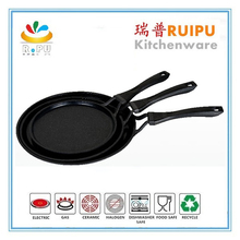 2 layers nonstick coating die cast round aluminum poffertjes pan korean grill pan