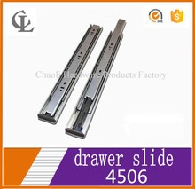 45mm 3 fold full extension Silent soft closing ball bearing drawer track