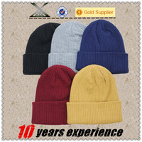 Men's Women Beanie Knit Ski Cap Hip-Hop Blank Color Winter Warm beanie Unisex Wool Hat