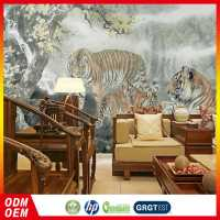 100% Warranty Cheapest Fashion Design Tiger Pattern Pvc Wallpaper Dealers