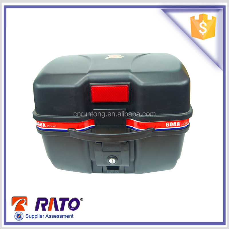 Plastic motorcycle luggage rear storage box