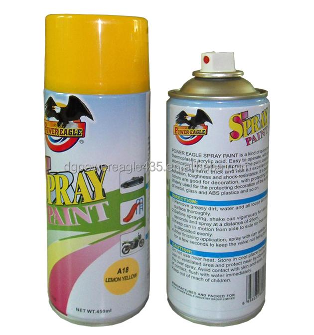 pe 450ml aerosol non toxic spray paint
