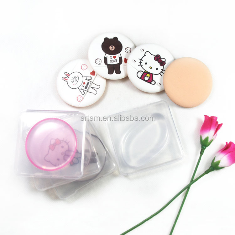 cosmetic sponge face cleaning cosmetic puff silicone makeup brush hello kitty