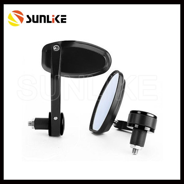 "Top Sale 3"" Round Black 7/8"" Handle Bar End Mirror for motorcycle"
