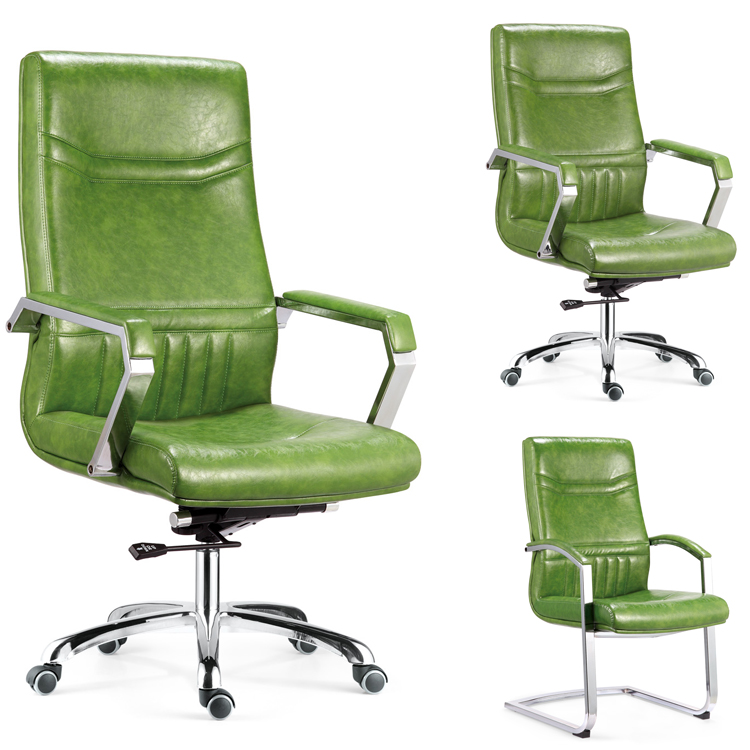 Humanscale swivel sedia dell'ufficio esecutivo green leather office chair