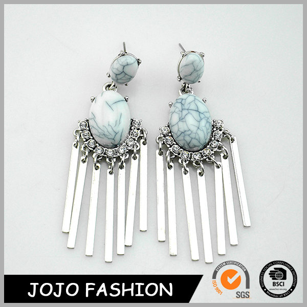 Cheapest turqouse stud earring diamante turqouise sheet iron designed earring