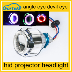 New Arrival motorcycle projector headlight with angel eye HIGH/LOW