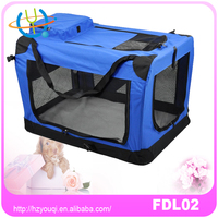 Dog Cat Pet Bed House Soft Carrier Crate Cage w/Case