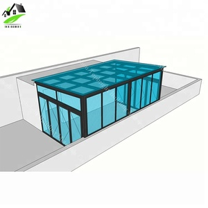 China supplier prices aluminum extrusion Glass panels Sunrooms for Houses roof sale