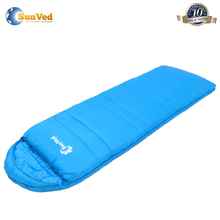 portable splicing double camping sleeping bag with two sacks