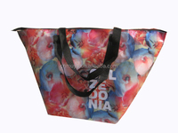Newest recycled eco pp non woven zipper shopping bag