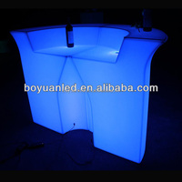 High level waterproof LED glowing PE plastic wine table bar counter