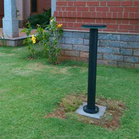 energy saving lamp outdoor aluminum+PC decorative solar garden bollard light (JR-CP06)