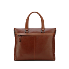 Top mens 2018 laptop bag grained leather briefcase