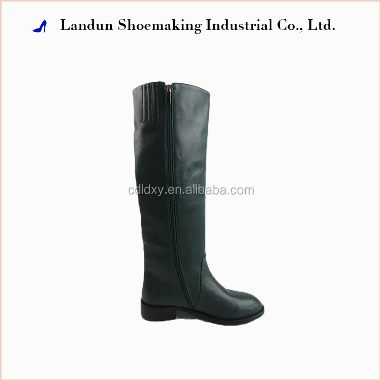 Alibaba cheap genuine leather knee woman boot