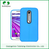 Wholesale High Quality Fashion Design Mobile Phone Case leather pattern finish Soft TPU custom 7 colors for Moto G3 case cover