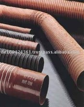 High Temperature resistant Silicone Hoses with spiral free ends - MADE IN EUROPE