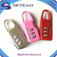 Colorful Zinc Alloy Resettable Digital Combination Padlocks