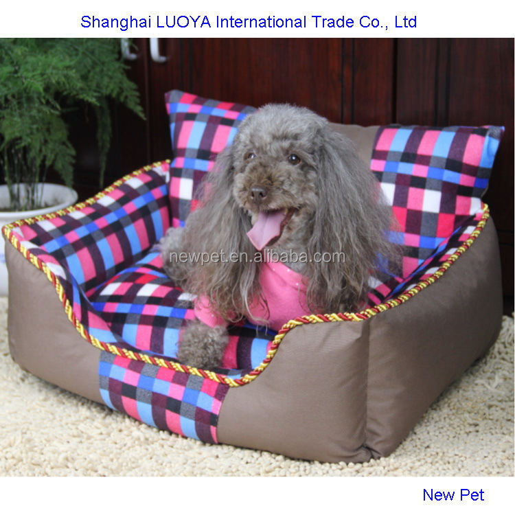 Factory wholesale direct sale soft plush dog sofa pet igloo dog houses with zipper
