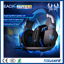 High quality EACH G2000 Game Gaming Headset Earphone Computer Headband Headphone with Mic Stereo Bass