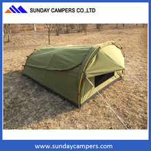 Outdoor Deluxe King Size Single Swags Camping Hiking Swags Canvas Tent