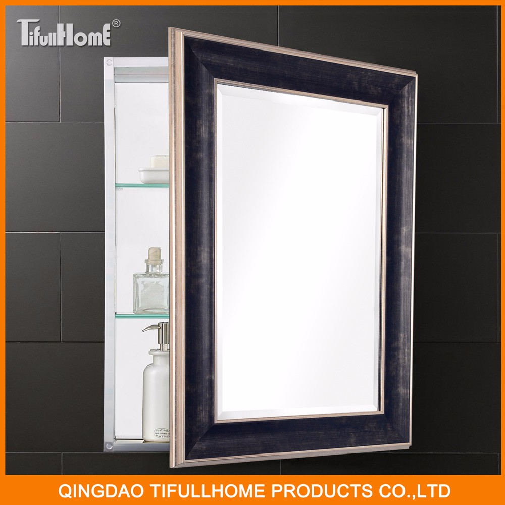 European style high quality aluminum bathroom mirror for Mirror quality